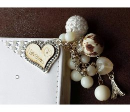 Fantasy-diamond bling heart! Luxe wallet case voor Apple iPhone 6