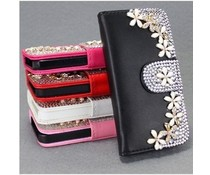 Bloemetjes Bling! Wallet case hoesje voor Apple iPhone 6 Plus