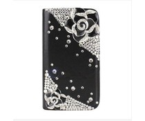 Apple Iphone 6 Girlie bling bookcase roosjes