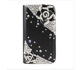 Apple Iphone 6 Girlie bling walletcase roosjes