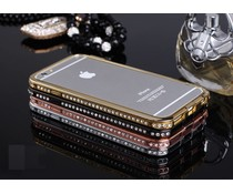 Exclusieve metalen bumper met strass bling voor je Apple Iphone 6 , diverse kleuren