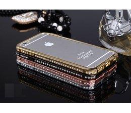 Apple Iphone 6 exclusive metalen bumper met strass blingbling, diverse kleuren