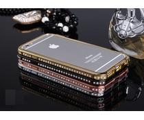 Exclusieve metalen bumper met strass bling voor je Apple Iphone 4/4S , diverse kleuren