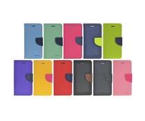 PU leren Apple Iphone 6 Plus bookcase met kleur accenten, ruimte voor pasjes