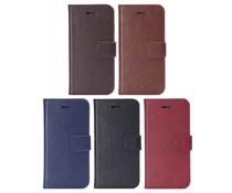 PU leren walletcase met pasjes ruimte voor Apple Iphone 6 Plus, diverse kleuren