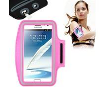 XL Sportarmband voor telefoons met groot scherm, roze