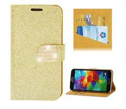 Glitters en fonkels flipcase met kaartgleuven voor Apple Iphone 5/5S
