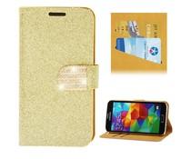 Glitters en fonkels walletcase met kaartgleuven voor je Apple Iphone 6 Plus