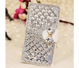 Extreme glitter and glam! Bling wallet case hoesje voor Apple Iphone 5/5S