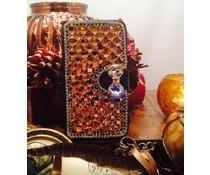 Extreme glitter and glam! bling walletcase voor Apple Iphone 5/5S/5C diverse kleuren