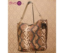 Gaby Eternel® Omkeerbare shopper tas, slangenprint