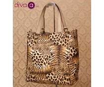 Elsa Eternel® reversible shopper tas, panter/tijgerprint