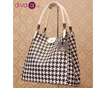 Olivia Eternel® reversible shopper tas, zwart/wit