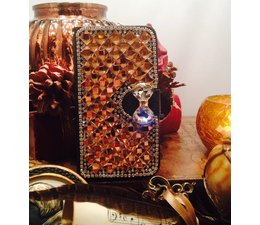 Extreme glitter and glam! bling walletcase voor Samsung Galaxy S6 Edge