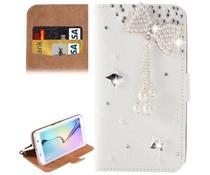 Bowtie diamond bookcase voor Samsung Galaxy S6 Edge