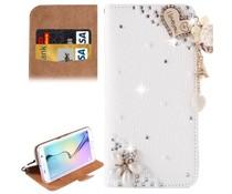 Fantasy-diamond bling heart bookcase voor Samsung Galaxy S6 Edge