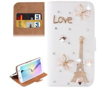 I love Paris-Fantasy bling! Luxe bookcase voor Samsung Galaxy S6 Edge