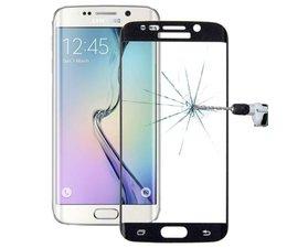 Gebogen Tempered glass voor Samsung Galaxy S6 Edge, zwart