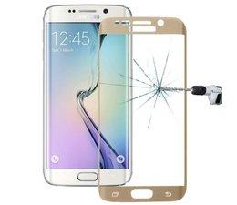 Gebogen Tempered glass voor Samsung Galaxy S6 Edge, goud