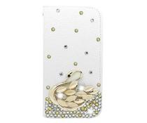 Prachtige zwaan diamant bookcase voor Apple Iphone 6 en 6s