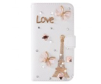 I love Paris-Fantasy bling! Luxe bookcase voor Samsung Galaxy S7