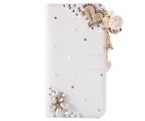 Fantasy-diamond bling heart bookcase voor Samsung Galaxy S7