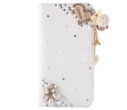 Fantasy-diamond bling heart walletcase voor Samsung Galaxy S7