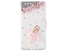 Romantische Ballerina! Luxe bling bookcase voor Samsung Galaxy S7