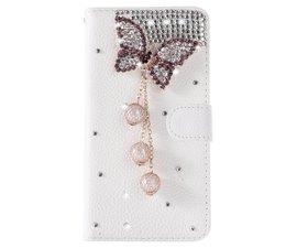 Diamond butterrfly glitter walletcase voor Samsung Galaxy S7