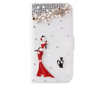 Cats and Divaas Bling bookcase love your Samsung Galaxy S7