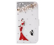 Cats and Divaas Bling bookcase love your Samsung Galaxy S7 Edge