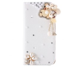 Cute teddybear glitter walletcase Samsung Galaxy S7 Edge