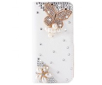 Diamond Royal butterfly glitter walletcase voor Samsung Galaxy S7 Edge
