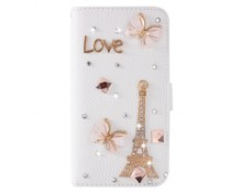 I love Paris-Fantasy bling! Luxe bookcase voor Samsung Galaxy S7 Edge