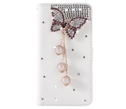 Diamond butterrfly bling walletcase hoes voor Samsung Galaxy S7 Edge