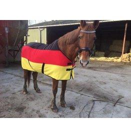 Fleece-Transport- und Abschwitzdecke Polarfleece -Deutsche Flagge