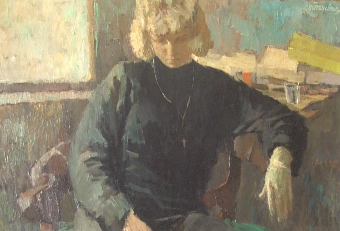 schilderij van Frans Hummelman met daarop Lies afgebeeld