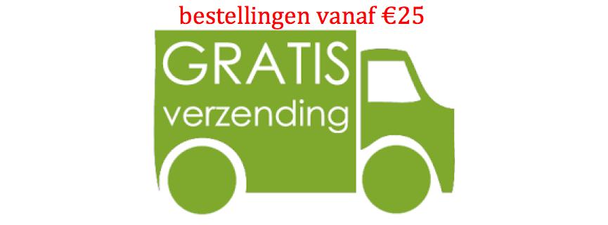 geen verzendkosten bij bestellingen vanaf €25