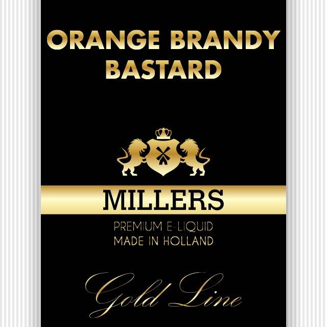 Millers Goldline liquid Orange Brandy Basterd