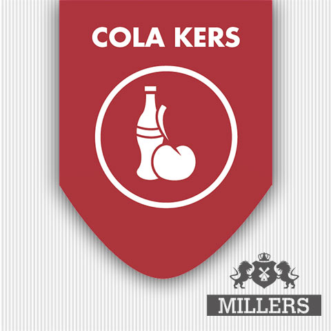 Cola liquid Millers juice silverline