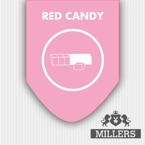 Red candy liquid Silverline millers Juice