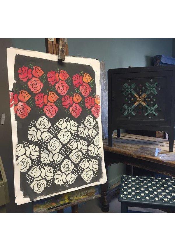 Stencil Roses