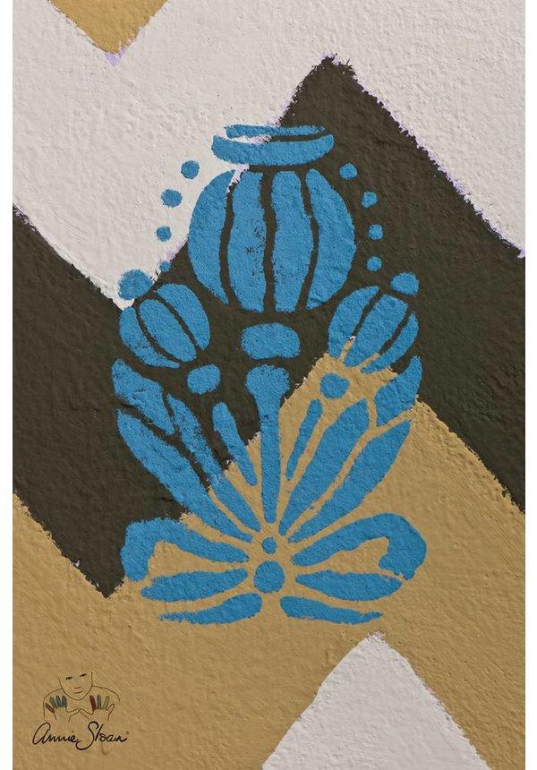 Stencil Poppy Pod
