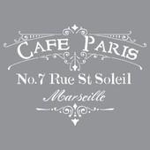 Stencil- Cafe Paris