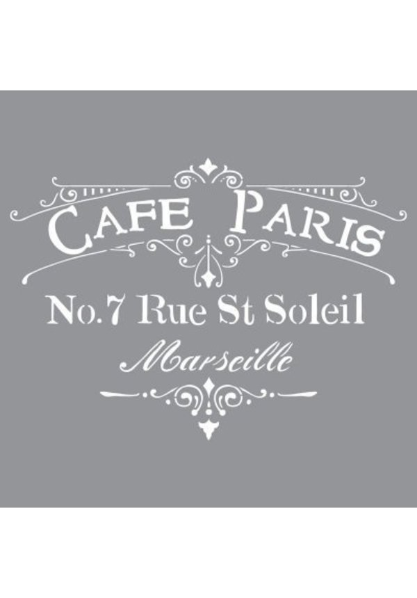 Stencil- Cafe Paris