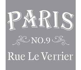 Stencil- Parisian Street
