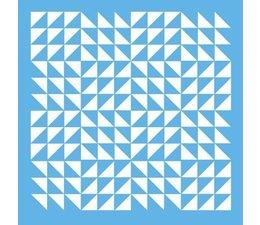Stencil- Triangle Patchwork