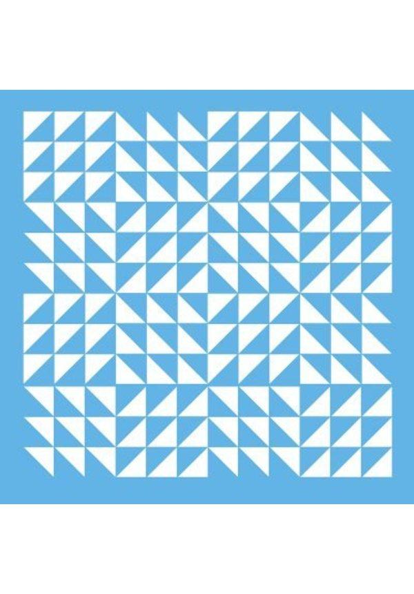 Schablonen- Triangle Patchwork