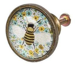 Knopf aus Metal Biene