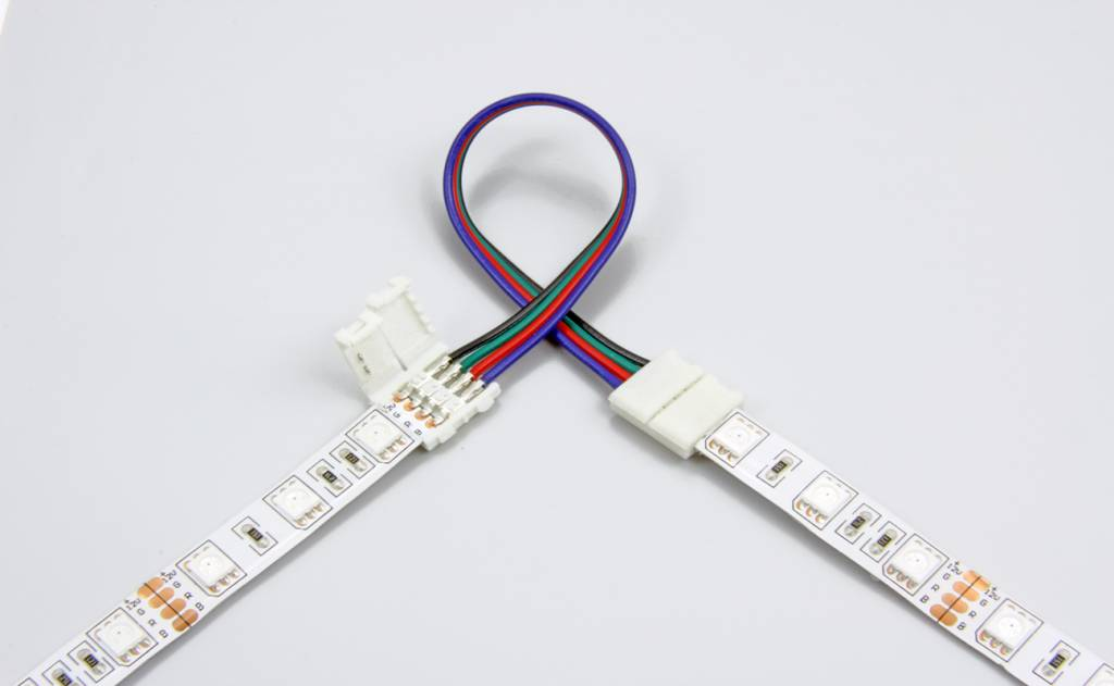 Flexibel connector for RGB LED strips, 15cm, solder-free